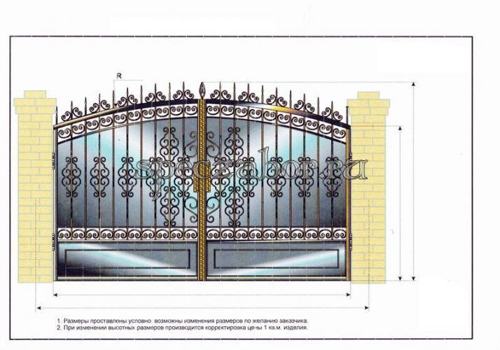Кованые ворота заборы и калитки фото эскизы картинки 7