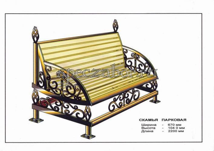 Кованая скамейка своими руками